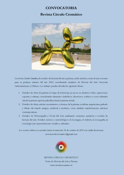 CONVOCATORIA 2019. Revista Círculo Cromático