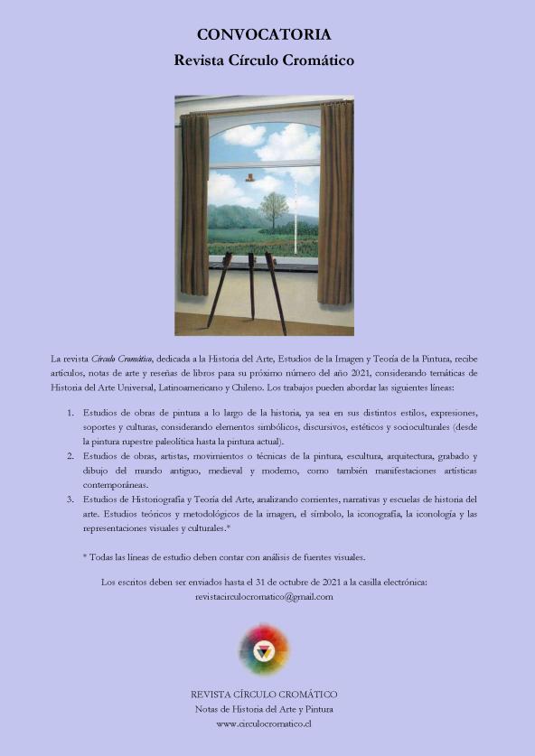 CONVOCATORIA 2021 - Revista Círculo Cromático v.1